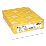 Astrobrights Colored Card Stock, 65 lb., White, 250 Sheets (WAU22401)