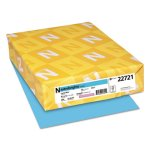 Astrobrights Colored Card Stock, 65lb., Blue, 250 Sheets (WAU22721)