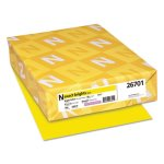 neenah-exact-brights-paper-50-lb-bright-yellow-500-sheets-wau26701