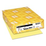 Neenah Bristol Cover Stock,  8-1/2 x 11, Yellow, 250 Sheets (WAU82331)