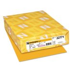 Astrobrights Colored Card Stock, Galaxy Gold, 250 Sheets (WAU22771)