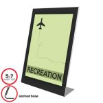 Deflect-O Superior Image Sign Holder, 5 x 7, Black/Clear, Each (DEF69575)
