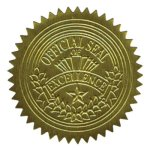 "Geographics Gold Foil ""Official Seal of Excellence"" Seals, 100 Seals (GEO20014)"