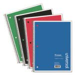 Universal 1 Subject Notebook, College Rule, 70 Sheets, 4 Notbooks (UNV66614)