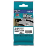 Brother P-Touch TZe Flexible Tape Cartridge, Black on White (BRTTZEFX241)