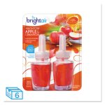 Bright Air Electric Oil Air Freshener, Apple/Cinnamon, 12 Refills (BRI900255)