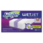 "Swiffer WetJet System Refill Cloths, 14"" x 3"", White, 24/Box (PGC08443)"