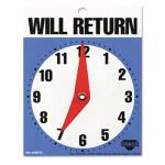 "Cosco Will Return Later Sign, 5"" x 6"", Blue, 1 Each (COS098010)"