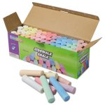Sidewalk Chalk, Jumbo Stick, 12 Assorted Colors, 52 Pieces/Case (CKC1752)