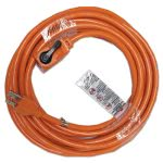 Innovera Indoor Extension Cord, Locking Plug, 25ft, Orange (IVR72325)
