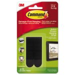 "Command Picture Hanging Strips, 3/4"" x 2 3/4"", Black, 4/Pack (MMM17201BLKES)"