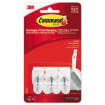 Command General Purpose Small Hooks, 3 Hooks & 6 Strips (MMM17067ES)