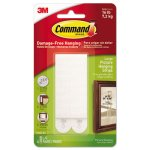 "Command Picture Hanging Strips, 1/2"" x 3 5/8"", White, 4/Pack (MMM17206ES)"