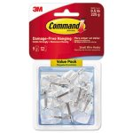 Command Small Wire Hooks, Clear Base, 9 Hooks with 12 Strips (MMM17067CLR9ES)