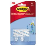 Command Clear Hooks & Strips, Small, 2 Hooks w/4 Adhesive Strips (MMM17092CLRES)