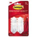 Command General Purpose Hooks, 3-lb. Capacity, 2 Hooks (MMM17081ES)