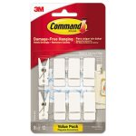 Command Spring Hook, 3/4w x 5/8d x 1 1/2h, White, 8 Hooks/Packs (MMM17089Q8ES)