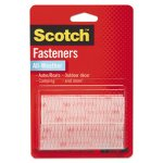 "Scotch Hook and Loop Fastener Tape, 1"" x 3"", Clear, Two Sets (MMMRFD7090)"