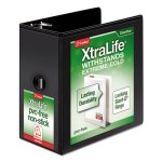 "Cardinal XtraLife 6"" ClearVue Locking Slant-D Ring View Binder, Black (CRD26361)"