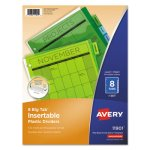 Avery WorkSaver Big Tab Plastic Dividers, 8-Tab, Letter, Multicolor (AVE11901)