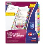 Avery Table of Contents Dividers, Multicolor Tabs, A-Z, 26 Dividers (AVE11844)