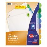 Avery Style Edge Insertable Dividers, 8-Tab, Assorted, 8 per Set (AVE11201)
