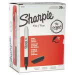 Sharpie 1884739 Fine Point Permanent Marker, Black, 36 Markers (SAN1884739)