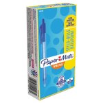 paper-mate-inkjoy-100rt-retractable-ballpoint-pen-blue-ink-dozen-pap1951253