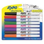 Expo Low-Odor Dry-Erase Marker, Fine Point, Assorted, 8 per Set (SAN1884309)