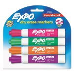 Expo 81044 Low Odor Dry Erase Markers, Assorted, 4 Markers (SAN81044)
