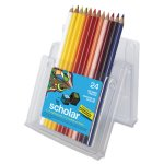 Prismacolor Scholar Colored Woodcase Pencils, 24 Assorted Colors/Set (SAN92805)