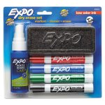 Expo Low Odor Dry Erase Marker Starter Set, Assorted, 4/Set (SAN80653)