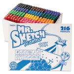 Mr. Sketch Scented Watercolor Markers, Fine Tip, 12 Colors, 216/Set (SAN1905315)