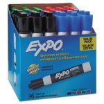 Expo 1921061 Low Odor Dry Erase Marker, Assorted, 36 Markers (SAN1921061)