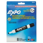 Expo 80078 Low Odor Dry Erase Whiteboard Markers, 8 Assorted Colors (SAN80078)