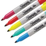 Sharpie Fine Tip Permanent Marker, Color Burst Assortment, 5/Pack (SAN1948352)