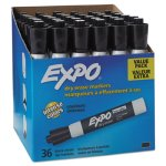 Expo Low Odor Dry Erase Marker, Chisel Tip, Black, 36/Box (SAN1920940)