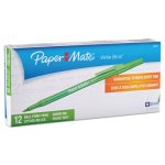 paper-mate-ballpoint-stick-pen-green-ink-medium-dozen-pap3341131