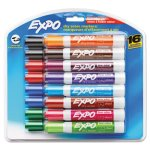 Expo 81045 Low Odor Dry Erase Markers, Assorted, 16 Markers (SAN81045)