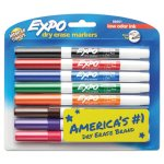 Expo Low-Odor Dry-Erase Marker, Fine Point, Assorted, 8 per Set (SAN86601)