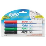 Expo Low-Odor Dry-Erase Marker, Ultra Fine, Assorted, 4 Markers (SAN1871133)