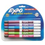 Expo Low Odor Dry Erase Markers, Fine Point, Assorted, 12/Set (SAN86603)