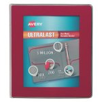 "Avery UltraLast View Binder w/1-Touch Slant Rings, 1"" Cap, Red (AVE79736)"