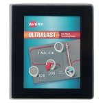 "Avery UltraLast View Binder w/1-Touch Slant Rings, 1"" Cap, Black (AVE79710)"
