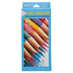 Prismacolor Colored Woodcase Pencils w/ Eraser, 24 Assorted Colors (SAN20517)