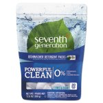 Seventh Generation Dishwasher Detergent Packs, 20 Packs (SEV22818PK)