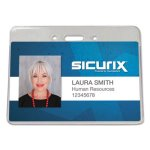 Baumgartens Sicurix Proximity Badge Holder, Horizontal, 50 Holders (BAU47810)