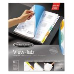 Wilson Jones View-Tab Transparent Index Dividers, Round, 5 Dividers (WLJ55061)
