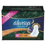 Always Ultra Thin Overnight Pads with Wings, 38 Pads (PGC95236PK)