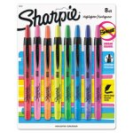 Sharpie Retractable Highlighters, Assorted Colors, 8 Highlighters (SAN28101)